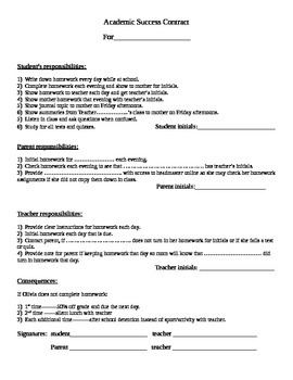 Academic Success Contract