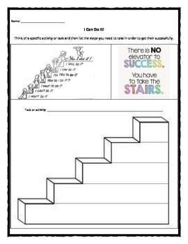 Academic Success: Steps to success worksheet