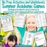 Academic Summer Games No Prep Printables