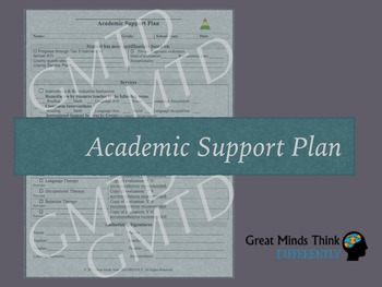 Academic Support Plan