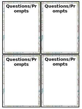 Academic Task Card Template