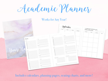 Academic Teacher Planner - Works for Any Year!