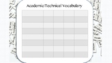 Academic/Technical Vocabulary