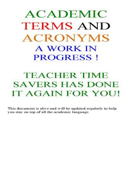 Academic Terms and Acronyms PDF