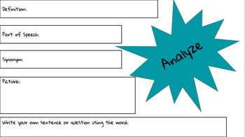 Academic/Testing Vocabulary!