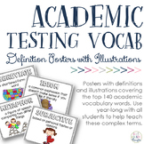 Academic Testing Vocabulary Posters