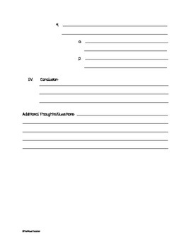 Academic Text Outline Template - Blank
