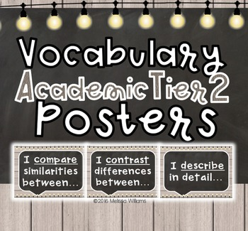 Academic Tier 2 Vocabulary Anchor Charts Sentence Frames FARMHOUSE shiplap