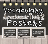 Academic Tier 2 Vocabulary Anchor Charts Sentence Frames F