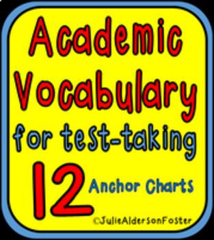Academic Vocabulary 12 Anchor Charts