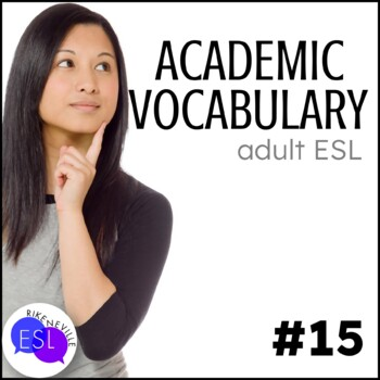 Academic Vocabulary 15 with Activities and Worksheets
