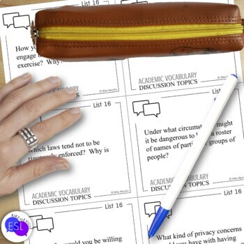 Academic Vocabulary 16 with Activities and Worksheets