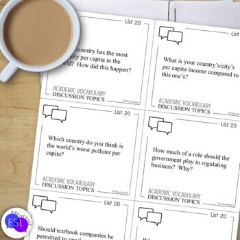 Academic Vocabulary 20 with Activities and Worksheets