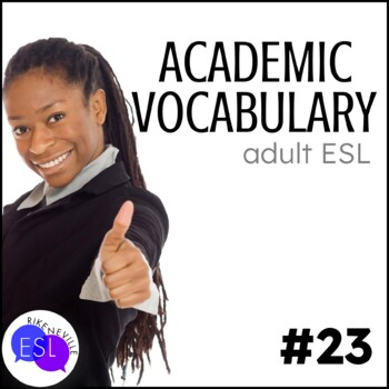 Academic Vocabulary 23 with Activities and Worksheets