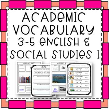 Academic Vocabulary - 3-5 English and Social Studies I