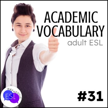 Academic Vocabulary 31 with Activities and Worksheets