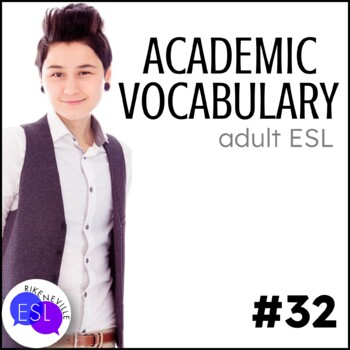 Academic Vocabulary 32 with Activities and Worksheets