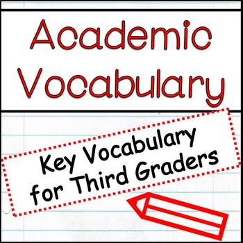 Academic Vocabulary Words For 3rd Grade