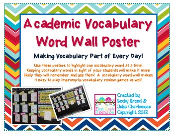 Academic Vocabulary - A Vocabulary Word Wall
