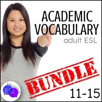 Academic Vocabulary BUNDLE 3 with Activities and Worksheets