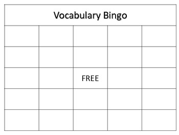 Academic Vocabulary Activity