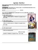 Academic Vocabulary Activity: WWI Propaganda