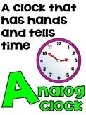 Academic Vocabulary Alphabet (ELA, Math & Science Words!)
