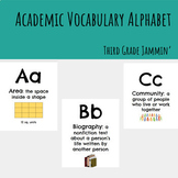 Academic Vocabulary Alphabet - Third Grade