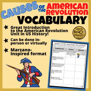 Academic Vocabulary - American Revolution!