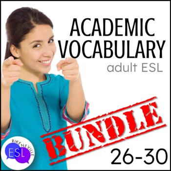 Academic Vocabulary BUNDLE 6 with Activities and Worksheets