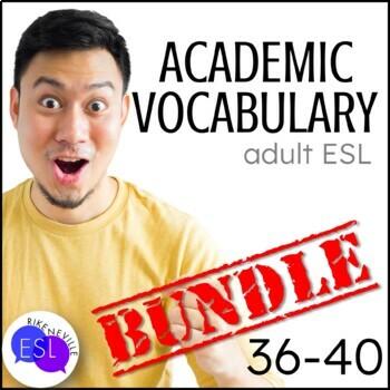 Academic Vocabulary BUNDLE 8 for Lists 36-40