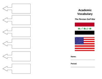 Academic Vocabulary Brochure: The Persian Gulf War