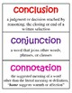 Academic Vocabulary Cards - Word Wall Words with Definitions