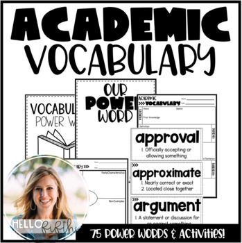 Academic Vocabulary Cards and Activities for Upper Graders