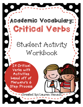 Academic Vocabulary: Critical Verbs