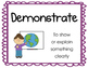 """Academic Vocabulary """"Critical Verbs"""" Posters FREEBIE"""