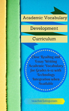 Academic Vocabulary Development Curriculum and Instruction