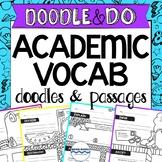 Academic Vocabulary Doodle Vocabulary, Test Prep Reading Passages, Testing Vocab