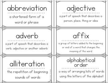 Academic Vocabulary Flash Cards