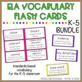 Academic Vocabulary Flash Cards Bundle (K-5)