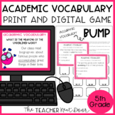 5th Grade Academic Vocabulary Game | 5th Grade Academic Vocabulary Center