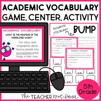 5th Grade Academic Vocabulary Game | 5th Grade Academic Vocabulary Center