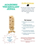 Academic Vocabulary Game - Jenga - Middle School