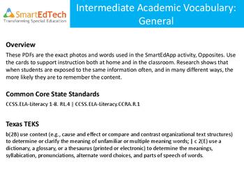 Academic Vocabulary: General - SmartEdTech Communication Cards