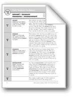 Academic Vocabulary, Grade 2: amount, measure, measures, measurement