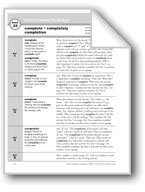 Academic Vocabulary, Grade 2: complete, completely, completion