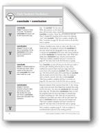 Academic Vocabulary, Grade 3: conclude, conclusion