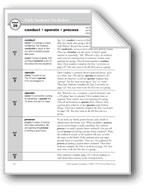 Academic Vocabulary, Grade 3: conduct, operate, process