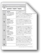 Academic Vocabulary, Grade 3: question, inquire, inquiry