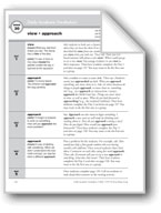 Academic Vocabulary, Grade 3: view, approach